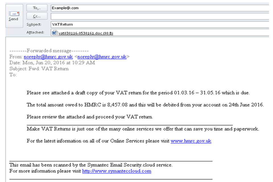 Phishing Emails And Bogus Contact Hm Revenue And Customs