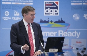 Minister for Defence Procurement at DSEI announcing DGP winners