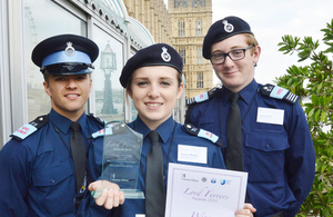 Police volunteers at the 2015 Lord Ferrers Awards