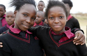 School girls in Zambia