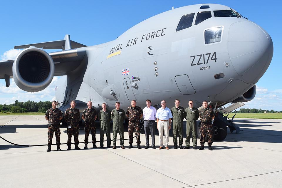 RAF C-17 Training at Pápa Airbase