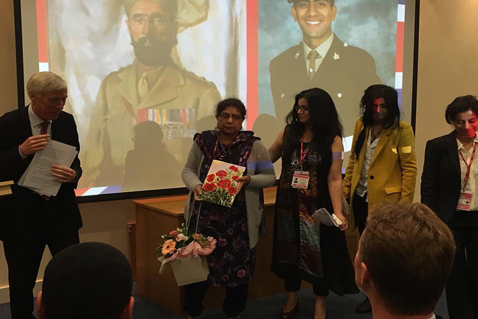 Lance Corporal Jabron Hashmi's family