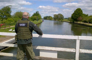 A fisheries officer on patrol
