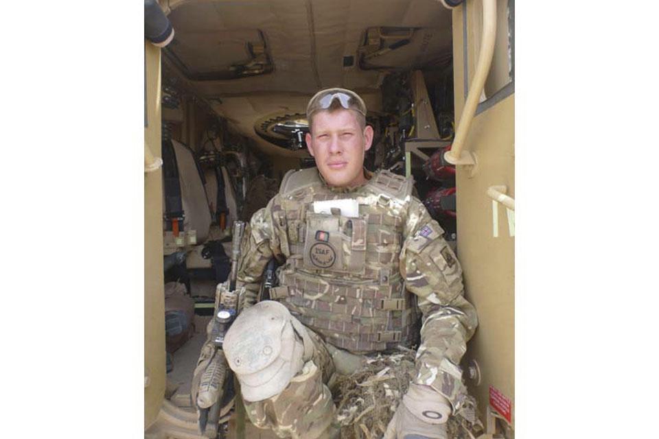 Corporal David Cadman prepares to leave Patrol Base Silab