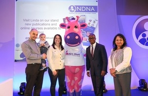 Joanne and Dan Thompson with Sam Gyimah at the launch of 'Millie's Mark' paediatric first aid standard