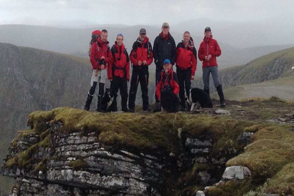 Hamish with some of the search and rescue volunteers