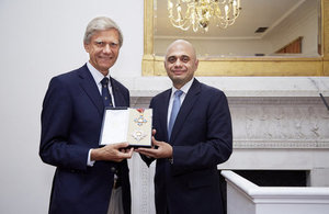 Dr Hermann Hauser and Business Secretary Sajid Javid.