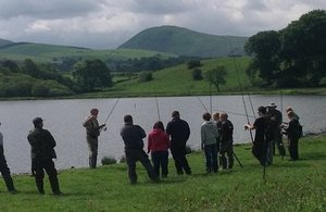 Anglers enjoying a day out