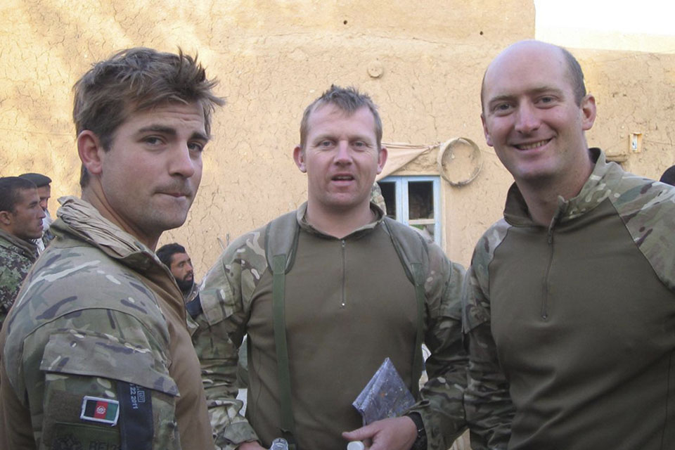 Captain Jonathan Arthur, Captain Thomas Berry and Sergeant Wayne Jones provided advice to an Afghan National Army heavy weapons unit during an operation in Nad 'Ali