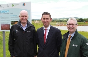 Official opening of Saltburn mine water treatment scheme