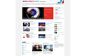 The British Forces News website