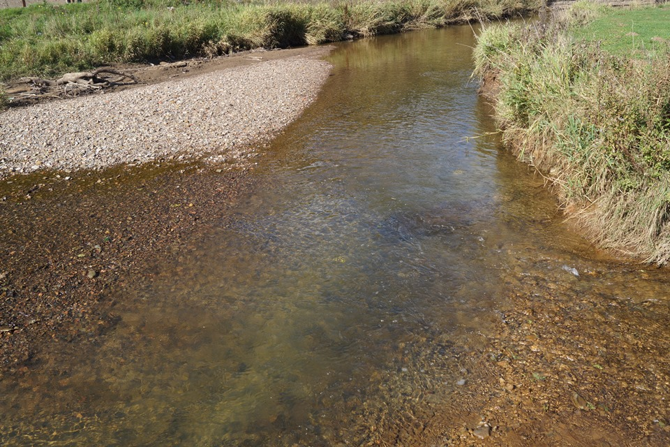 Watercourse at Saltburn following treatment
