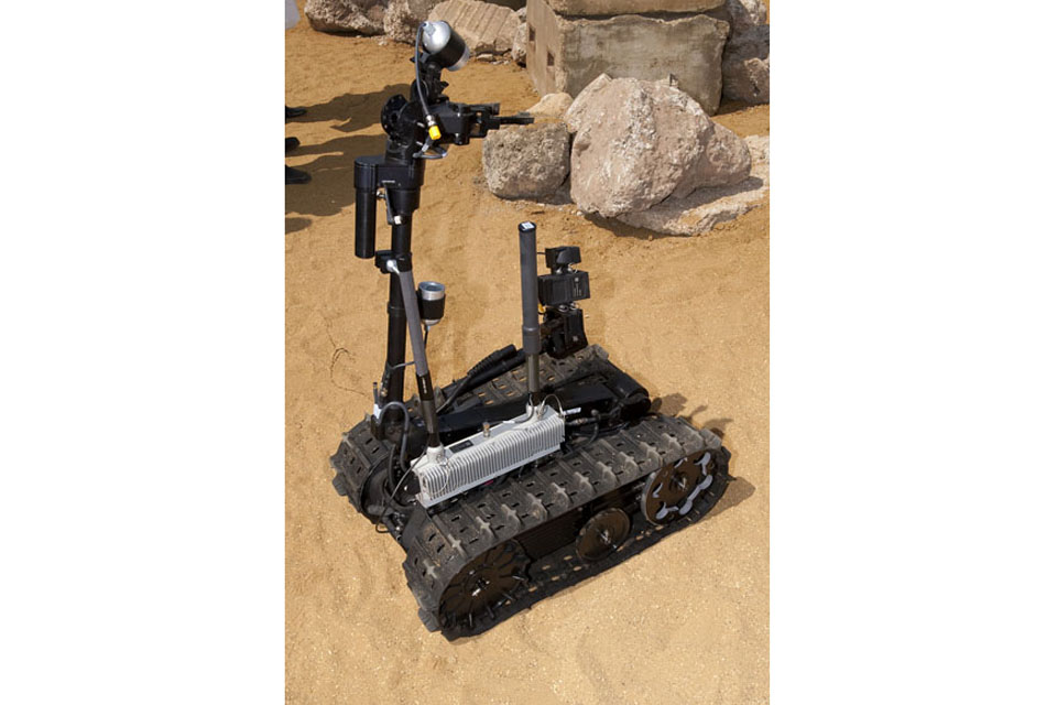 The Talon remote-controlled robot forms part of the latest counter-IED technology