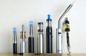 A line-up of ecigarettes