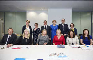Members of the Women's Business Council with Caroline Dinenage MP and Cilla Snowball CBE seated in the middle