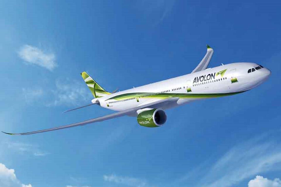 Artist's impression of airbus A330neo with Trent 7000 engines