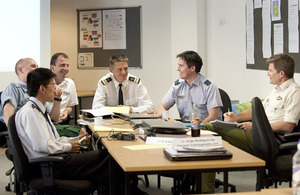 Students attending the Advanced Command and Staff Course at the Defence Academy in Shrivenham near Swindon, Wiltshire