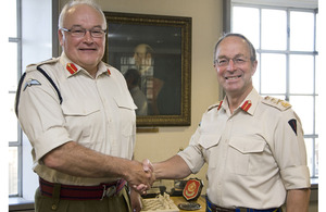 General Sir David Richards with General Sir Peter Wall (left)