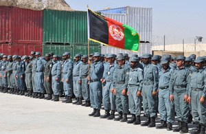 Afghan National Police at their graduation ceremony