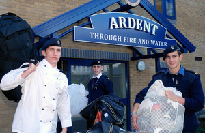 HMS Raleigh personnel move into their new accommodation