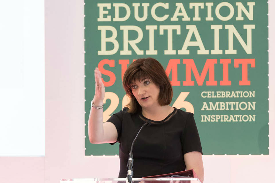 Nicky Morgan at Education Britain Summit