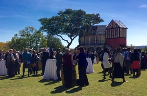 Guests attending British Embassy Harare's Queen's Birthday Party celebrations