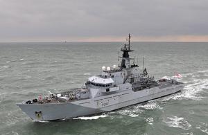 HMS Mersey. Crown Copyright.