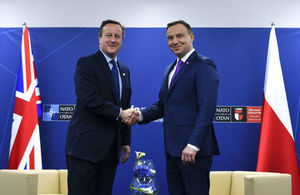 Prime Minister David Cameron meeting with the Polish President Andrzej Duda