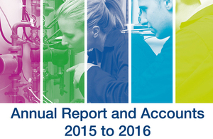 SFA annual report and accounts 2015 to 2016