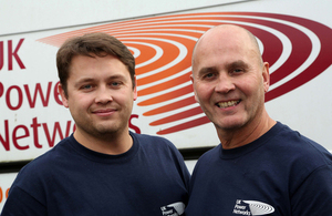 Two of the graduating apprentices, father and son Michael and Lee Shannon.