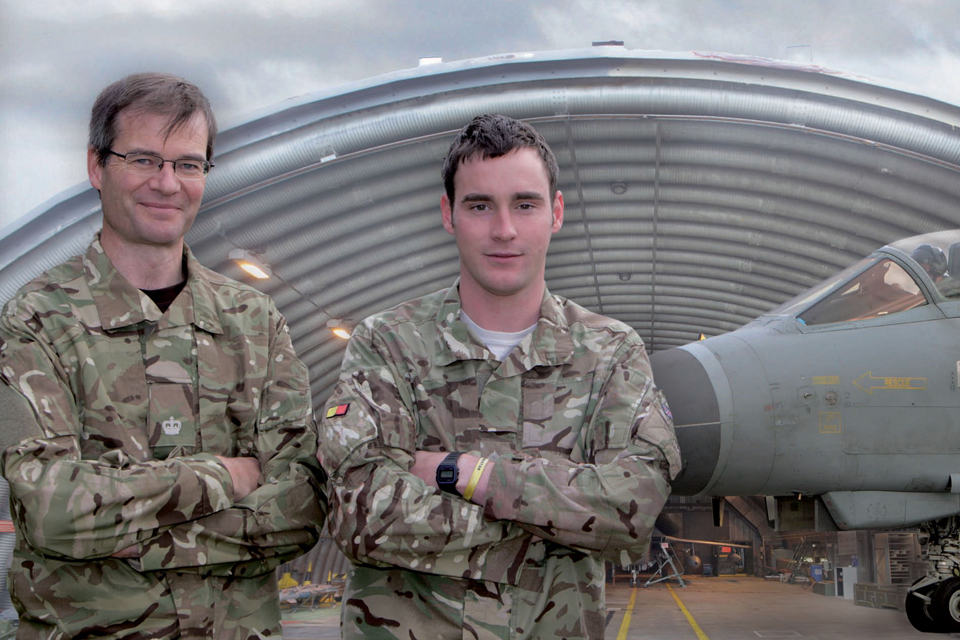 Major Jeremy Higgins (left) and Captain James Perring