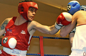 A Royal Air Force boxer fights his way to a national title in London
