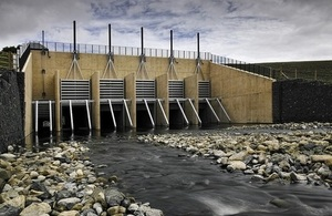 Image shows the upstream dam and storage area at Morpeth