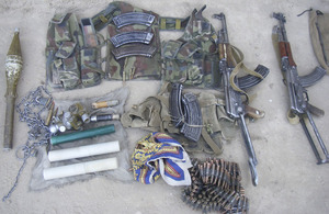 A successful joint operation in the Zumbalay area of Helmand province has resulted in a substantial weapons and IED find