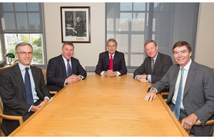 Dr Andrew Murrison, Mark Francois, Defence Secretary Philip Hammond, Andrew Robathan and Philip Dunne
