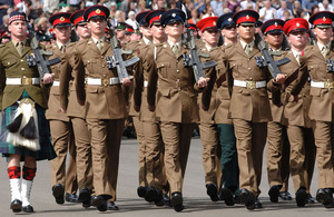 Junior Soldiers graduation parade at the Army Foundation College in Harrogate, North Yorkshire (stock image)