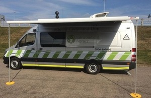 Image shows the incident command vehicle