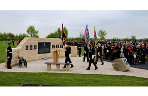 The service to dedicate the new Falklands memorial