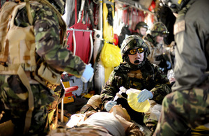 Royal Air Force medics train for operations