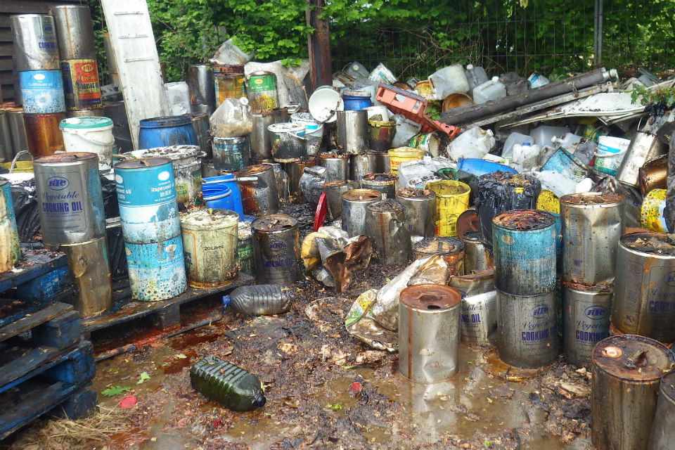 A heap of discarded containers