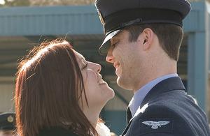 Aircraftman Gary Creswell with fiancée Hannah Clark