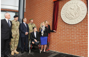 The opening of Chavasse VC House