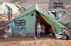 Shelter provided by UK aid for people displaced by Daesh in Iraq. Picture: Florian Seriex/Action Against HungerPicture: Florian Seriex/Action Against Hunger