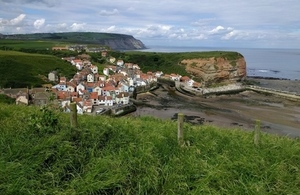 England Coast Path at Staithes