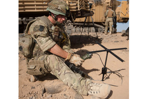 Soldier utilises satellite technology