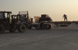 Delivery of ammunition to Kurdish Peshmerga