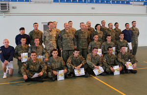 Kosovo Security Force members successfully completed Physical Training Instructors Course
