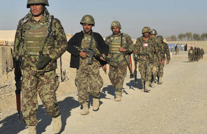 Afghan National Army soldiers at the start of Operation ZAMESTANI PEEROZI, or 'WINTER SUCCESS'