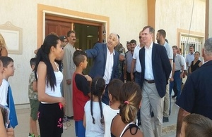 Ambassador Shorter with Father Elian Nasrallah at St. Elias church in Qaa