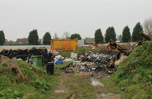 A Lincolnshire removal man has been fined for illegally storing waste